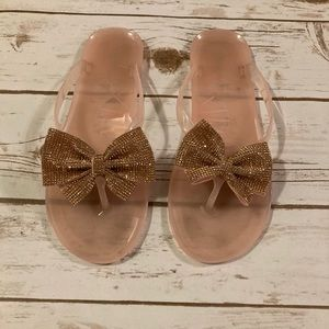 Top Moda Pink Jelly Flip Flops 9